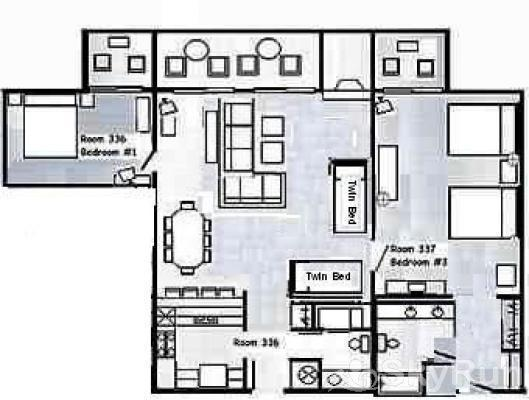 CM336 and CM337 Copper Mtn Inn Floor Plan
